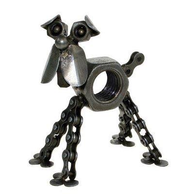 Recycled Bike Chain Dog