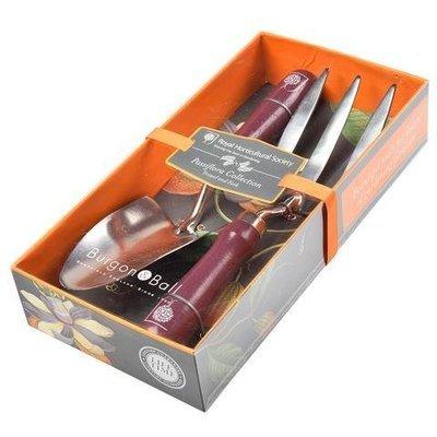 Burgon & Ball RHS Passiflora Trowel and Fork Gardening Tool Gift Set
