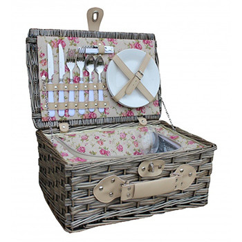 Two Person Garden Rose Chiller Picnic Hamper