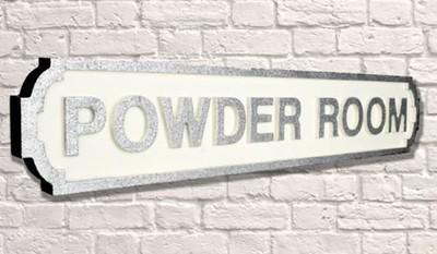 Powder Room Metal Sign