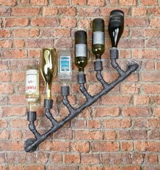 Industrial Water Pipe 6 Wine Bottle Holder