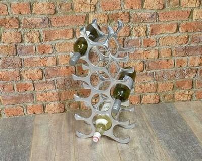 Aluminium 15 Bottle Wine Rack