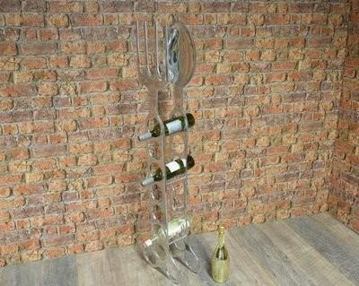 Aluminium Spoon and Fork Wine Rack