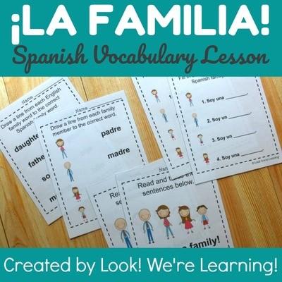 Spanish Family Members Worksheets
