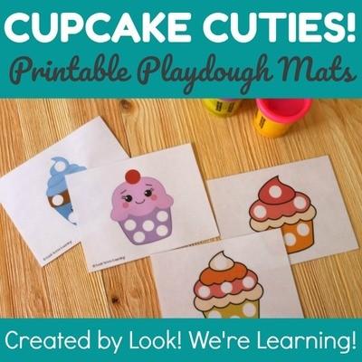 Cupcake Cuties! Cupcake Counting Mats