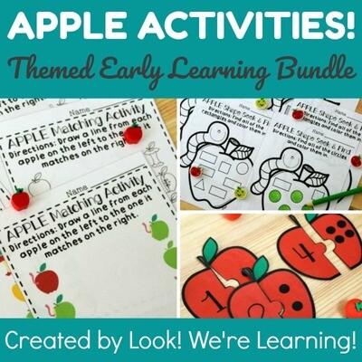 Apple Activities - Preschool Apple Learning Bundle