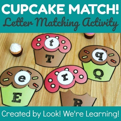 Cupcake Uppercase and Lowercase Alphabet Matching Activity