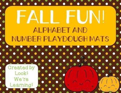 Fall Alphabet and Number Playdough Mats