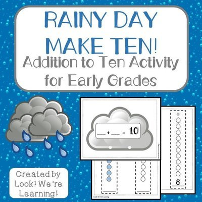 Rainy Day Make Ten Addition Activity