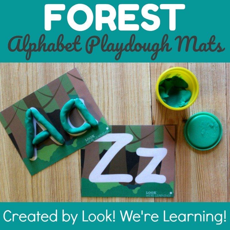 Forest Alphabet Playdough Mats
