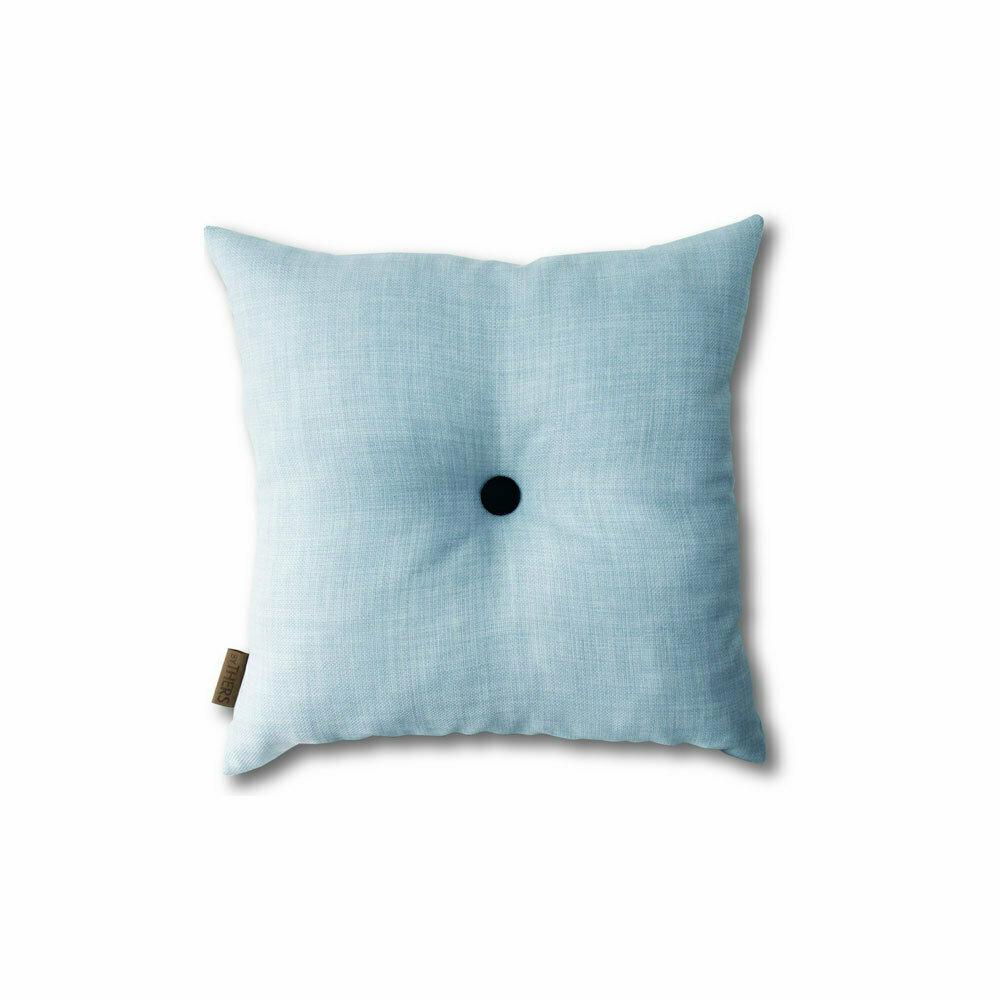Lys blå mini-pude med knap