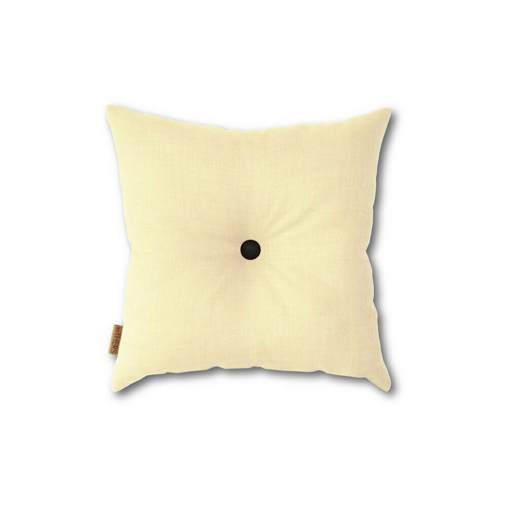 Lys gul mini-pude med knap