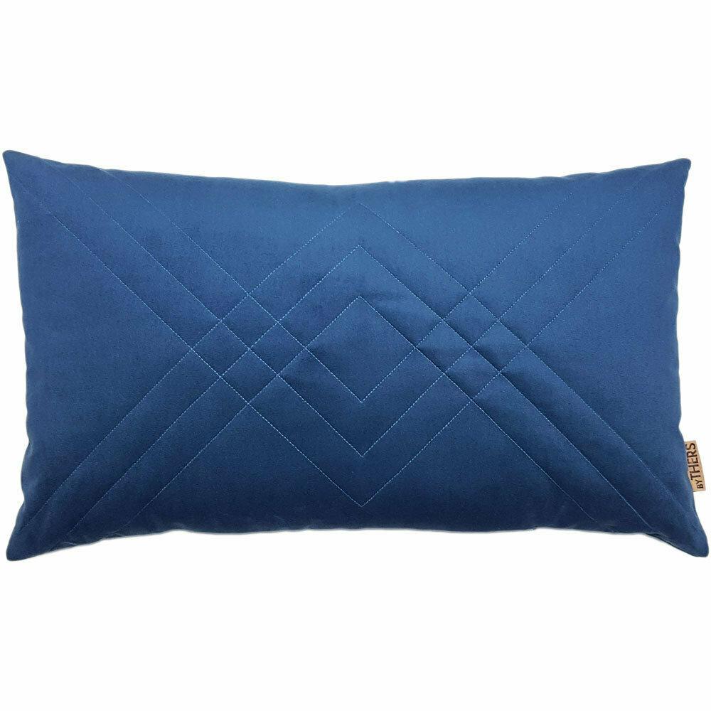 Quiltet Velour - Blå