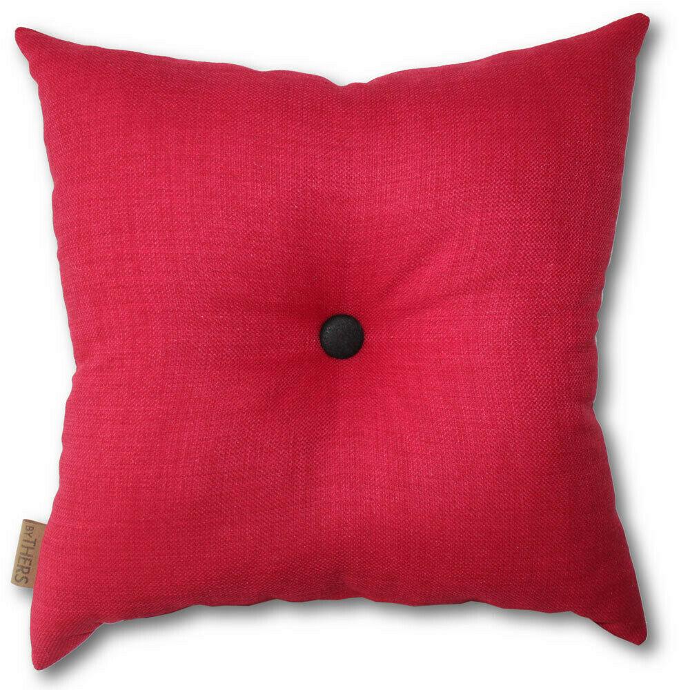 Rød pude med knap