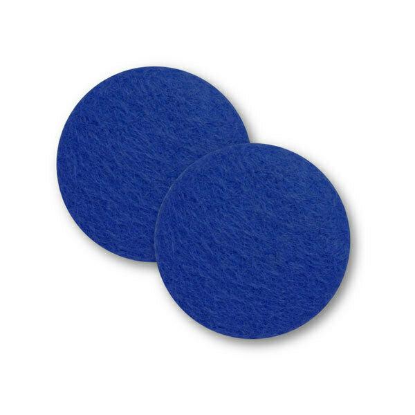 Sæt af 2 knapper til design-selv puder / Mørk blå