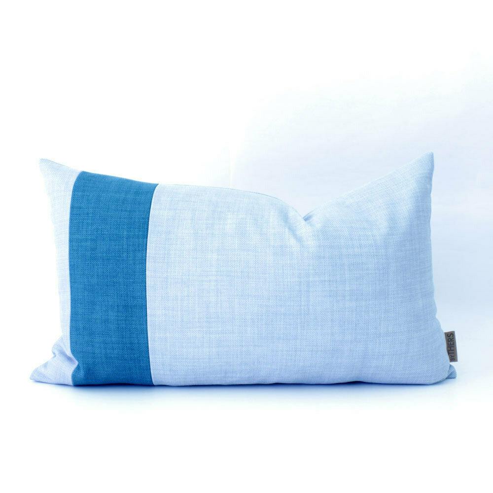 Unika pude - Blå nuancer