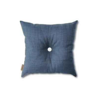 Blå mini-pude med knap