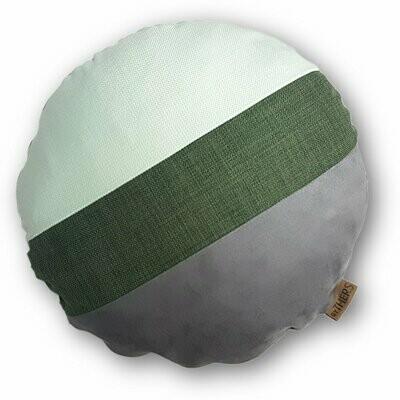 Rund unikapude - Grå/grønne nuancer