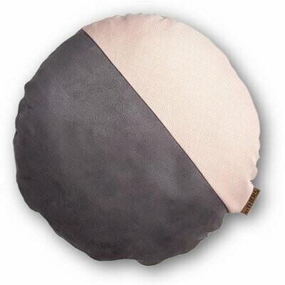 Rund unikapude - Grå/sart rosa