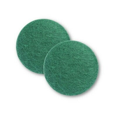 Sæt af 2 knapper til design-selv puder / Mørk grøn