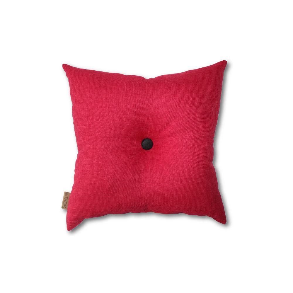 Rød mini-pude med knap 1611