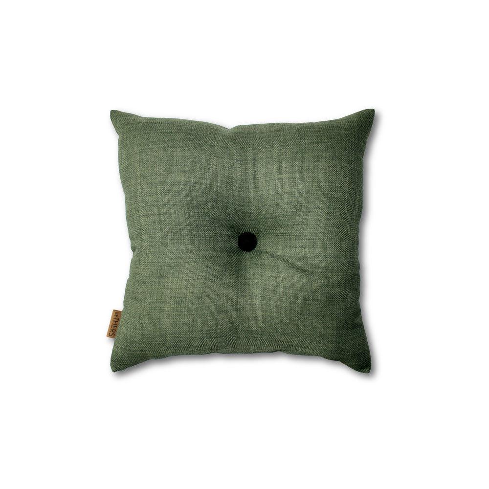 Mørk grøn mini-pude med knap 1612