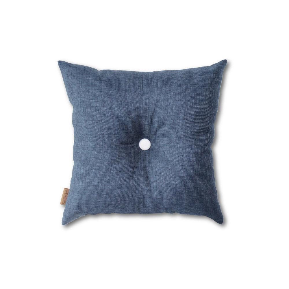 Blå mini-pude med knap 1608