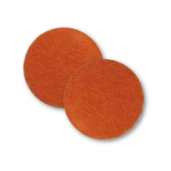Sæt af 2 knapper til design-selv puder / Orange 5002