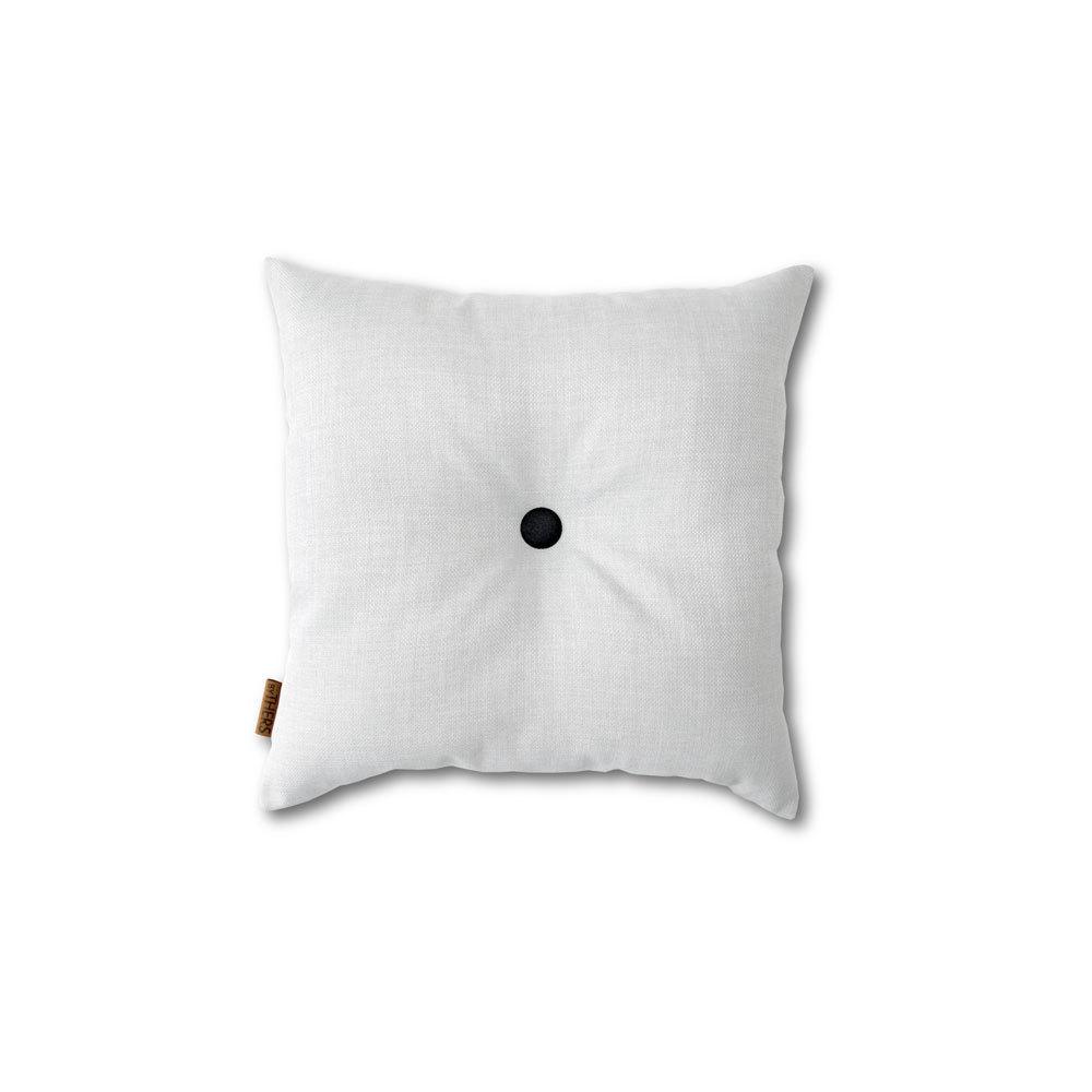 Hvid mini-pude med knap 1617