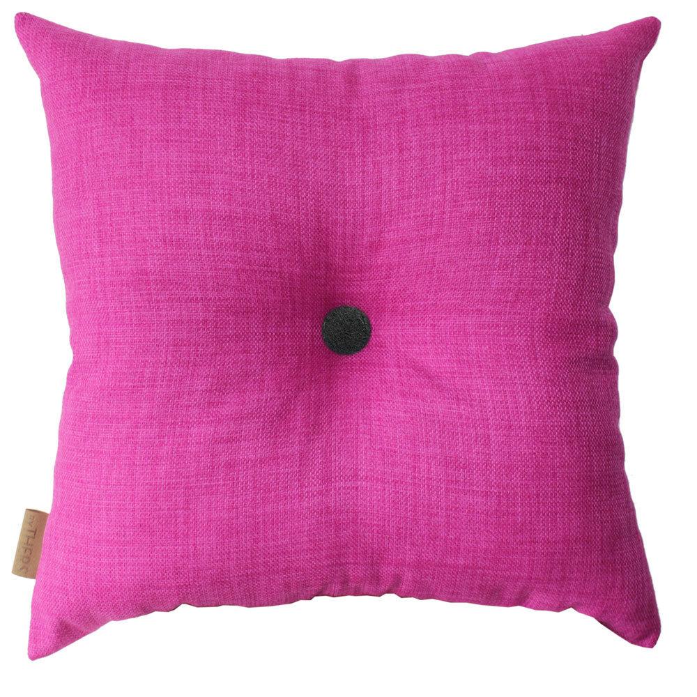 Pink pude med knap 1101