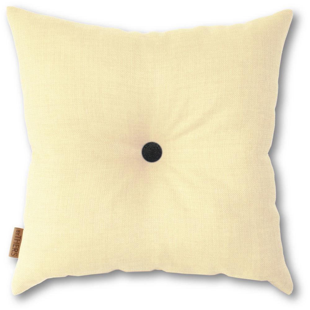 Lys gul pude med knap 1118