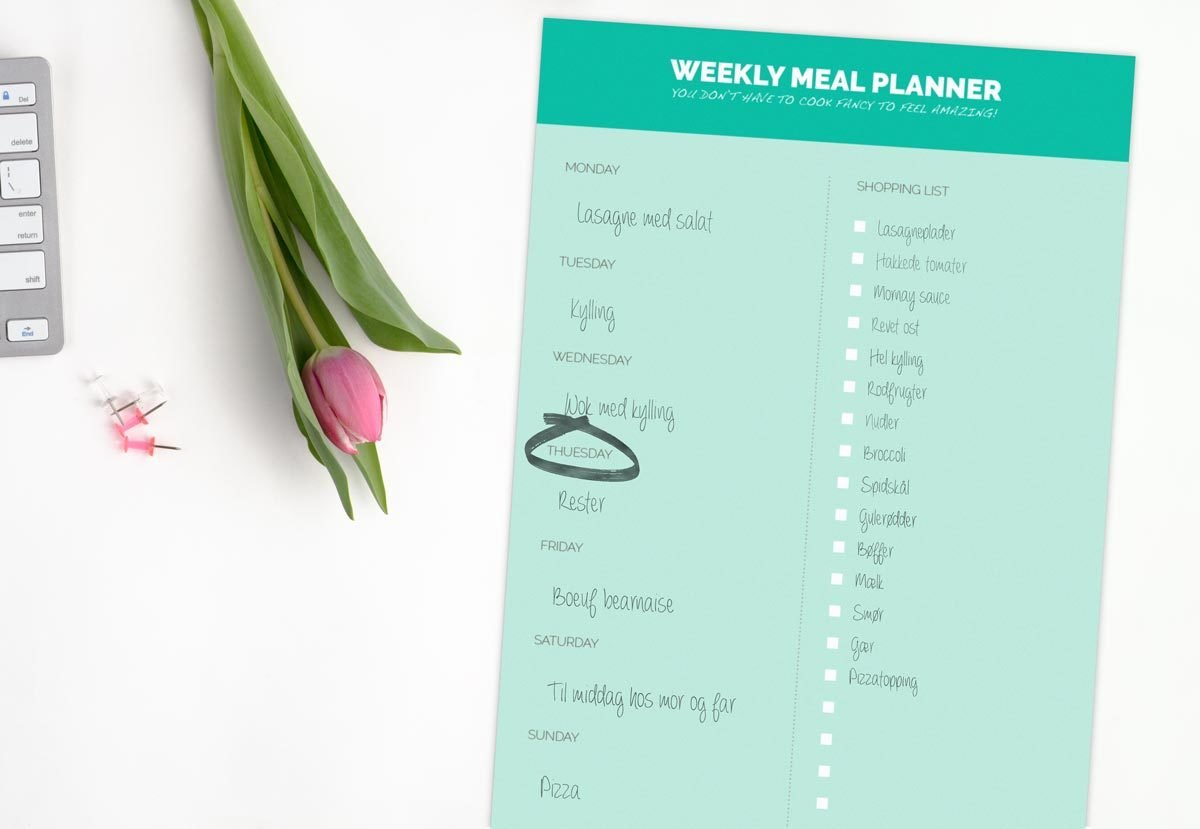 Weekly Meal Planner (GRATIS) 2001