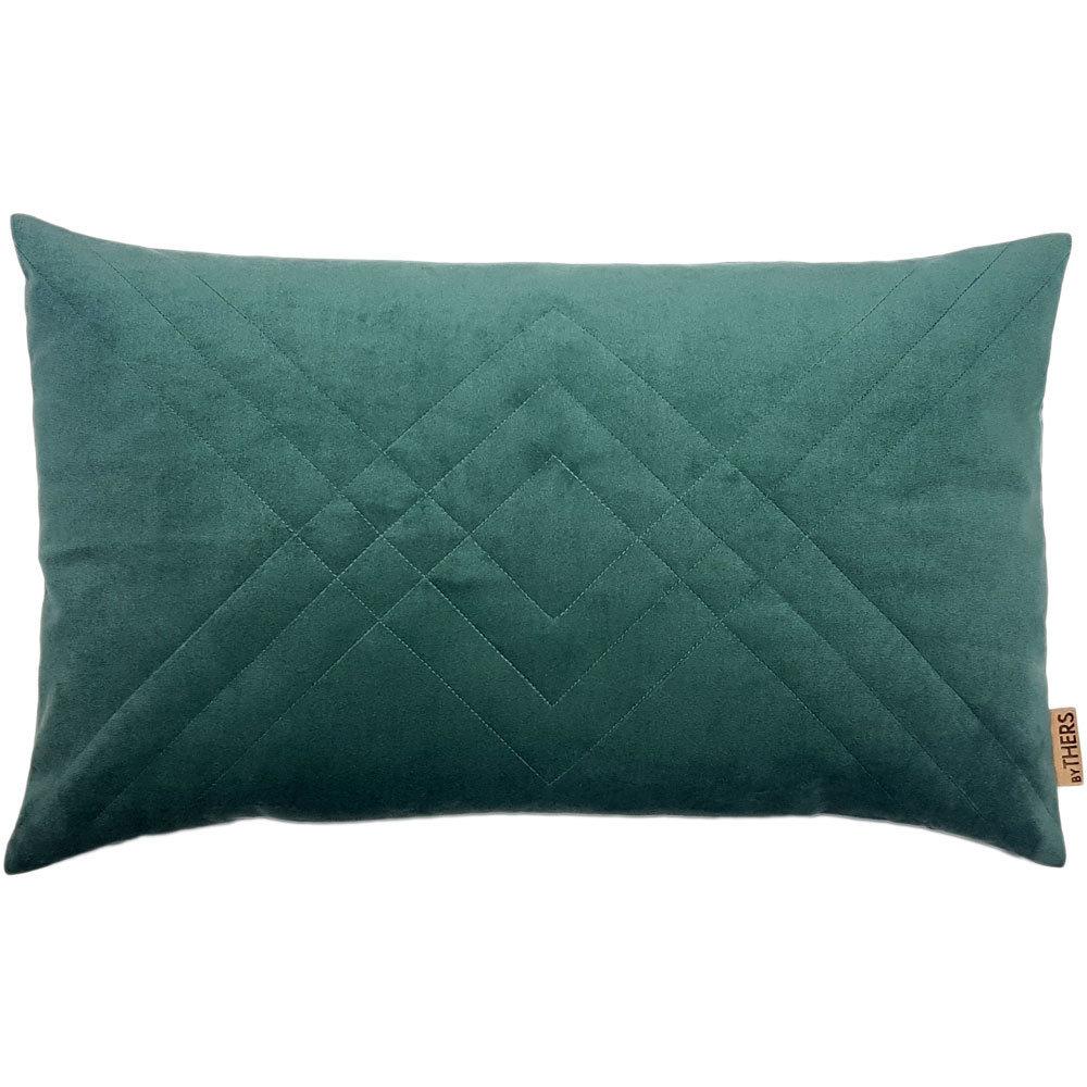 Quiltet Velour - Støvet grøn 4152