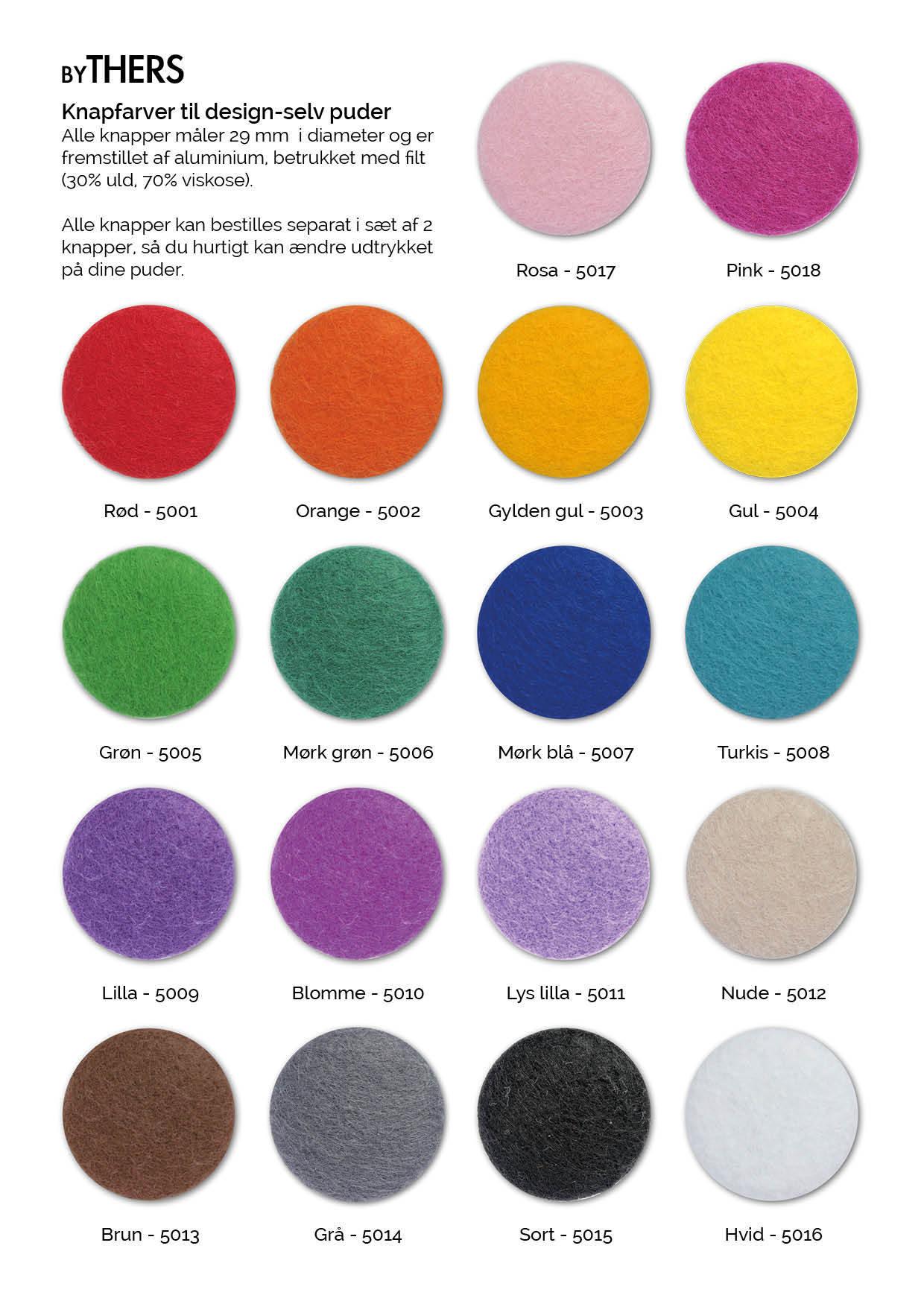 Knapfarver til byTHERS design-selv puder
