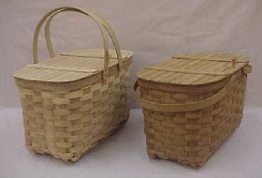 Lidded Picnic - 18.75x11x11.75, Drop Handles with Lid