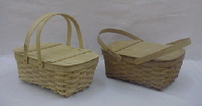 Small Picnic - 16x10x6.25, Drop Handles with Lid