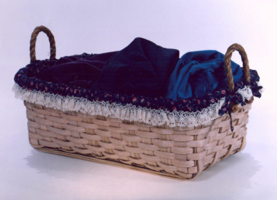 Laundry Basket - 27x17.5x9, Rope Handles