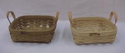 Pie Tray - 13x13x4.5, Leather Handles
