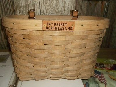 Bicycle Basket - 14.5x11x8.5, Leather Strap