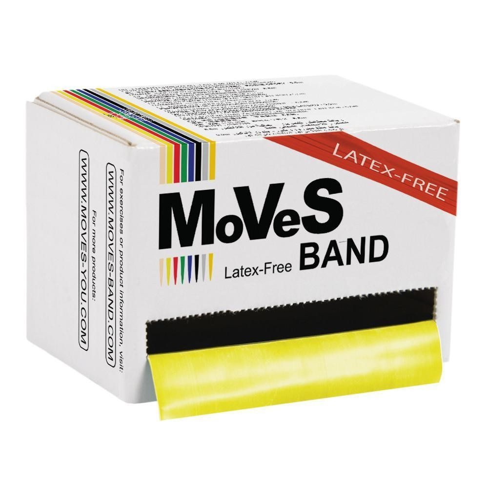 MoVeS Band Gul 45,5 m lätt LATEXFRI