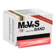 MoVeS Band Röd 45.5m medium LATEXFRI