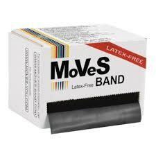 MoVeS Band Svart 45.5m XXHård LATEXFRI