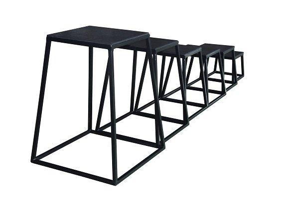 Plyo/Hoppbox set m 4st, 30,45,60,75cm 7600028
