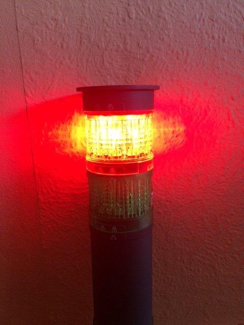 Röd Led Lampa