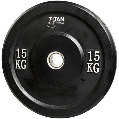 Titan Rubber Bumper Plate 15 kg
