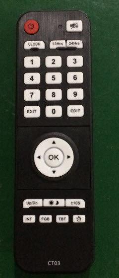 Titan BOX Digital Clock m fjärrkontroll