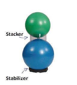 Pilatesball Stacker , Fp 3st.
