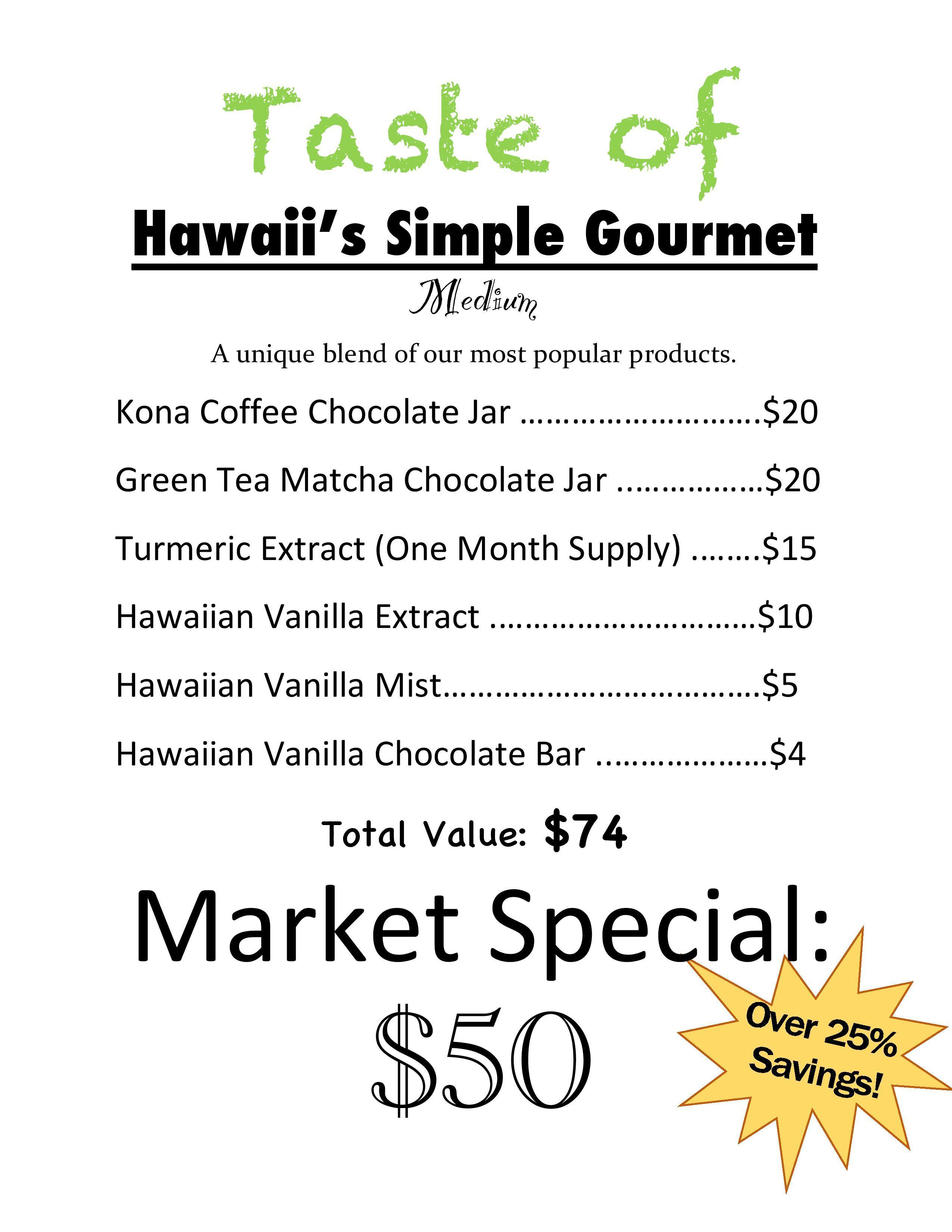 A Small Taste of Hawaii's Simple Gourmet's Most Popular Products Variety Pack