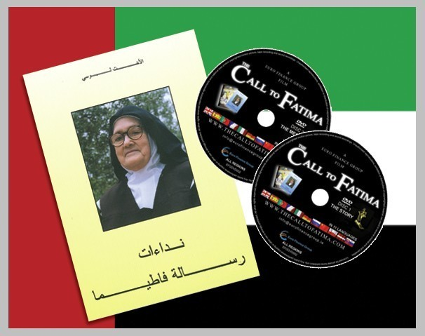 "Sister Lucia's book ""Calls from the Message of Fatima"" in Arabic + 2 DVDs ""The Call to Fatima"""