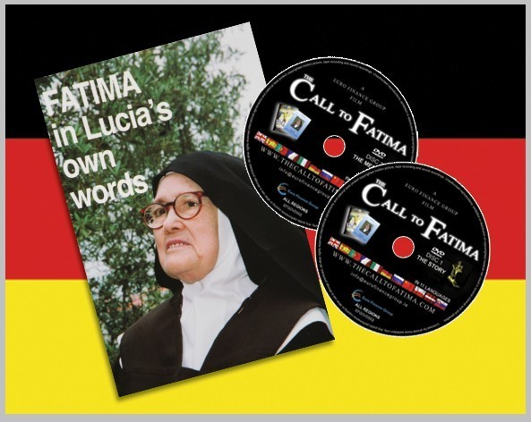 """Fatima in Lucia's own Words"" + 2 DVDs ""The Call to Fatima"" German Edition"